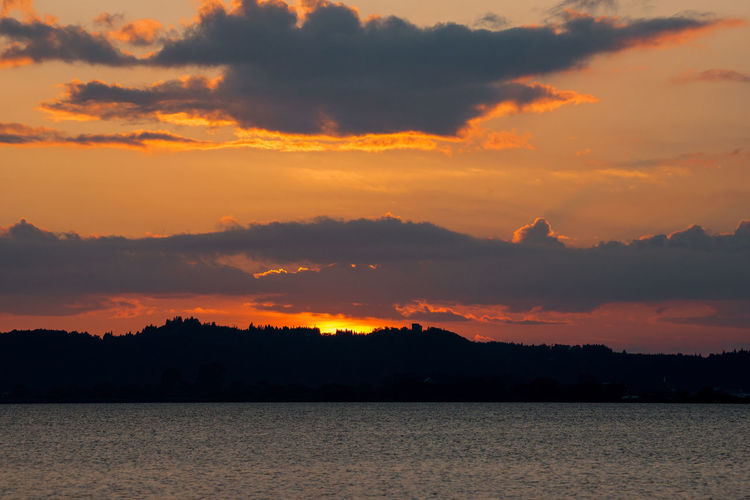 Evening Glow Of Fukushima Orange Sky See You Tomorrow Sunset_collection Orange Color Sunset またあしt 夕焼け空