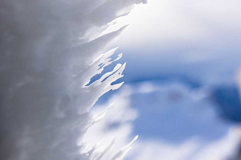 Sky Snow Ice Cold Temperature White Color Blue Colour Wind No People Nature Day Tranquility Outdoors Beauty In Nature Close-up
