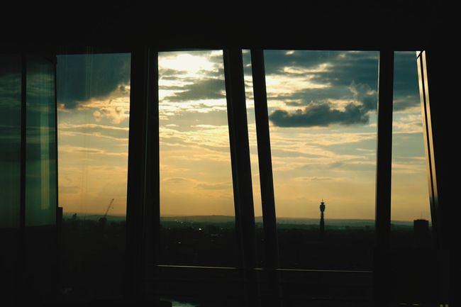 City Sunset Silhouette Window Sunlight Cityscape Sky Architecture