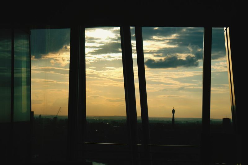 City Sunset Silhouette Window Sunlight Cityscape Sky Architecture