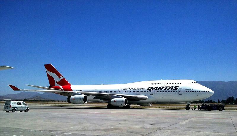 Boeing 747-400 Quantas Boeing Working Fly Airlines Qantas Chile Hello World First Eyeem Photo
