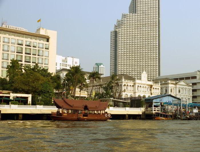 Bangkok Bangkok Thailand Chao Phaya River Chaophraya River Riverside Riverview Sky Skyscraper Thailand Water
