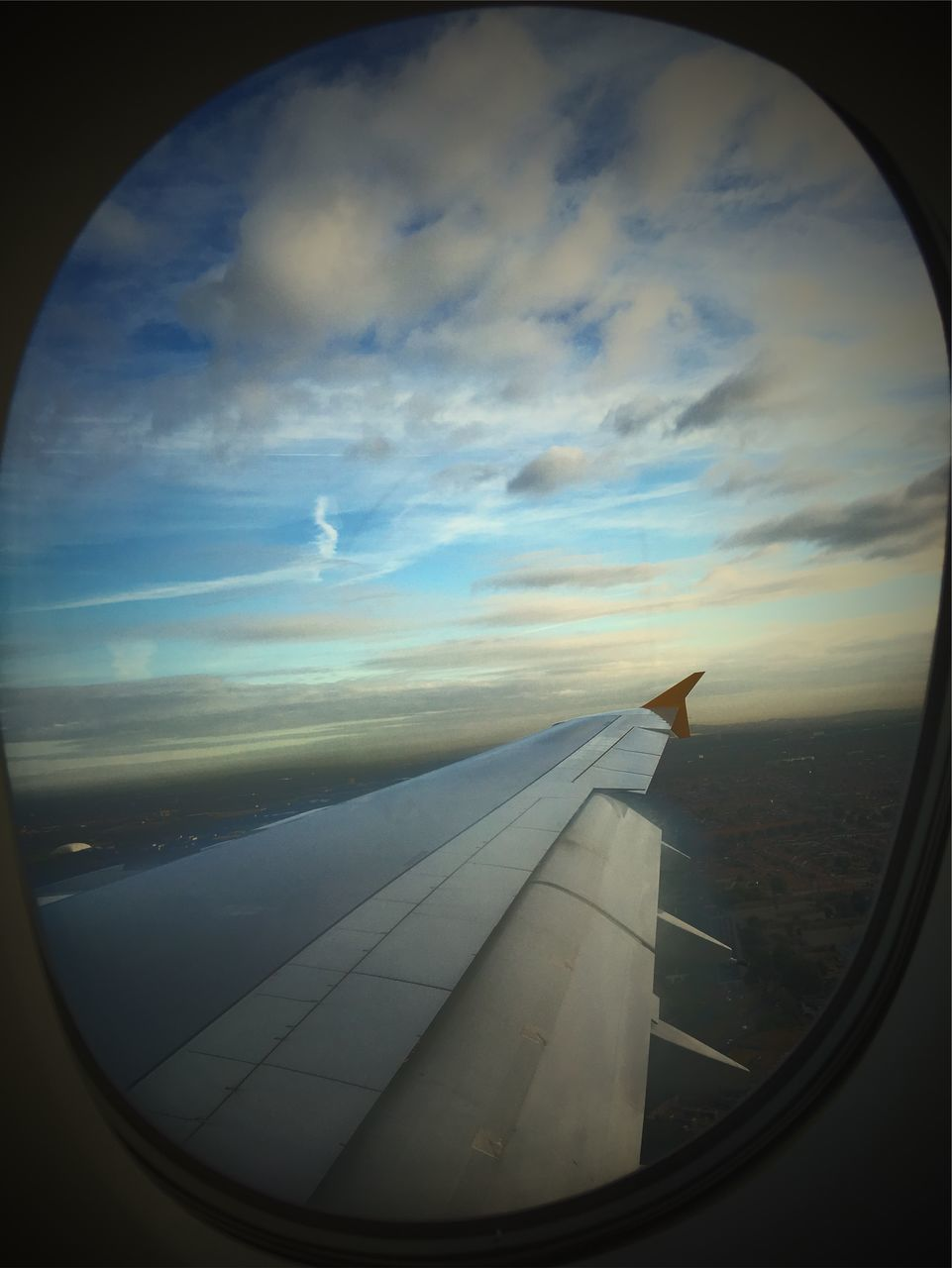 airplane, journey, sky, transportation, cloud - sky, airplane wing, travel, window, air vehicle, no people, nature, flying, mid-air, day, beauty in nature, landscape, scenics, sunset, close-up, outdoors