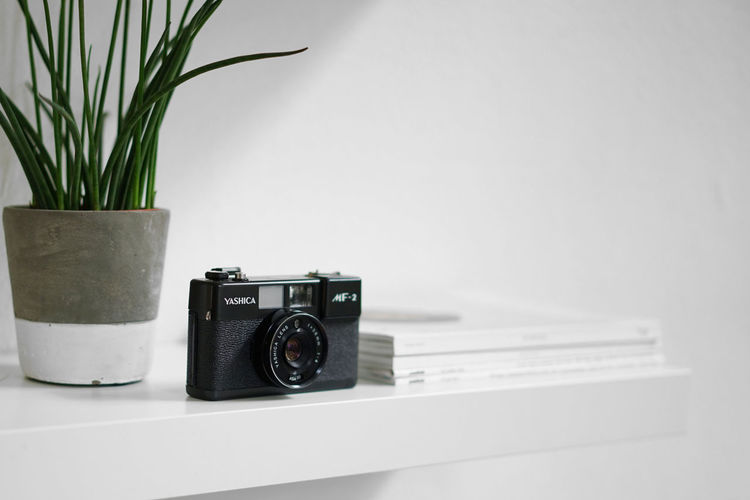 Yashica Camera - Photographic Equipment Close-up Day Indoors  No People Old-fashioned Photographing Photography Themes Retro Styled Technology Vintage Camera White Background
