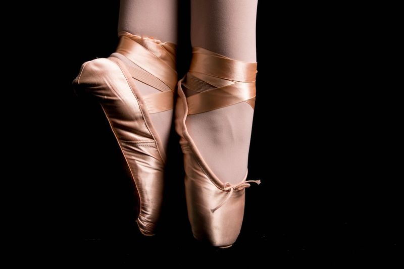 Human Body Part Black Background Studio Shot Human Leg One Person One Woman Only Low Section Close-up People Ballet Only Women Adults Only Ballet Dancer Adult