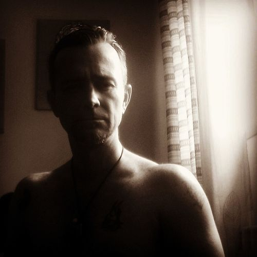 Portrait Shadow Pixelated Human Face Window Shirtless Headshot Dark Close-up Chiaroscuro  Film Noir Style Human Skin Attractive Human Body
