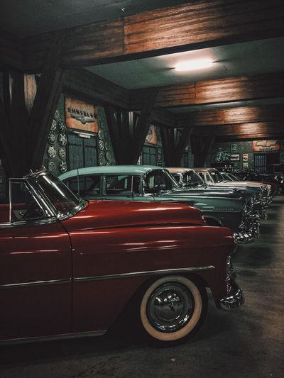 Car parked at night