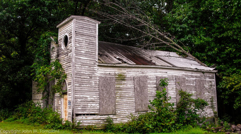Abandoned church Abandoned Architecture Built Structure Church Day Deterioration Exterior Grass Green Color Growth Nature No People Obsolete Old Outdoors Plant Run-down Tree Wood - Material