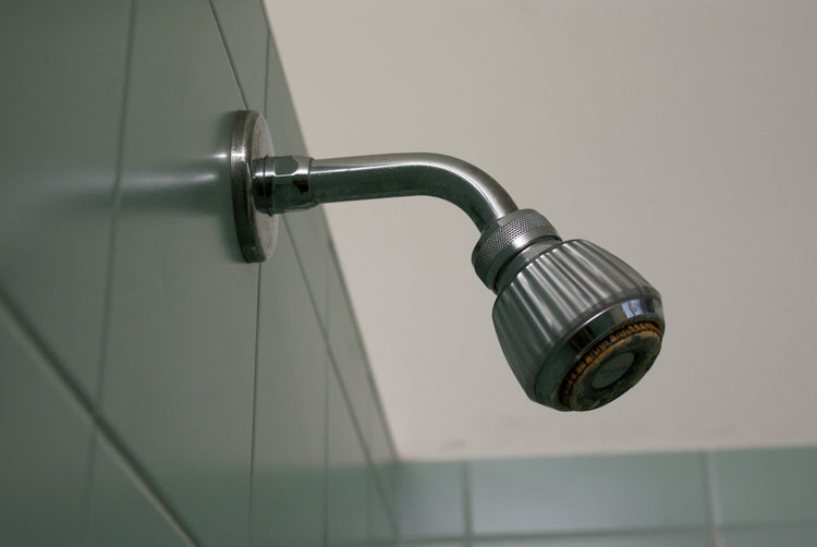 Close-up of shower in bathroom