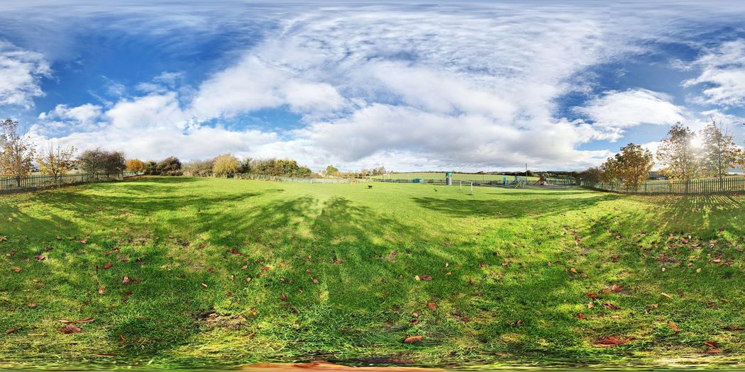 360 Sky Scenics Day Outdoors Tree Lovely Weather Different Perspective Grass Pattern, Texture, Shape And Form