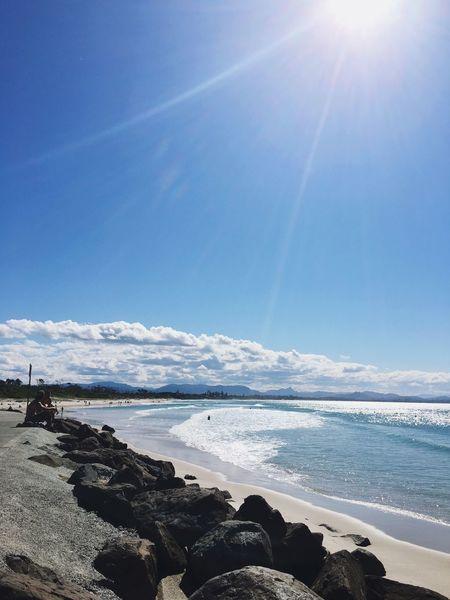 Beautiful Day ☀️☀️☀️ Beach Photography Beach Life Sea And Sky Blue Sky Blue Wave Blue Sea