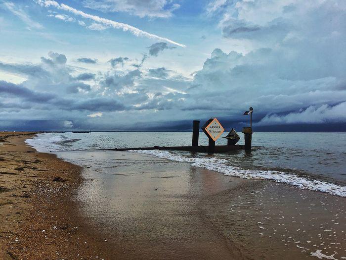 Danger Chesapeake Bay Stormy Sea Done That.