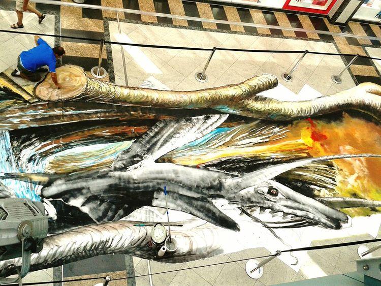 Streetart in Worms. Niebelungen Festspiele. 2016 Worms Streetart Streetartist Niebelungen Festspiele Chalk Art Chalk Drawing Dragon