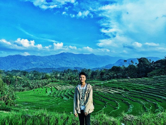 All I got. This is small Paradise In world. North Sumatera,Indonesia. One Person Standing Sky Nature Cloud - Sky Mountain Range Mountain Outdoors Happiness Landscape First Eyeem Photo