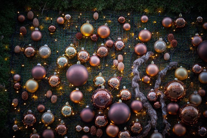 Full Frame Shot Of Baubles
