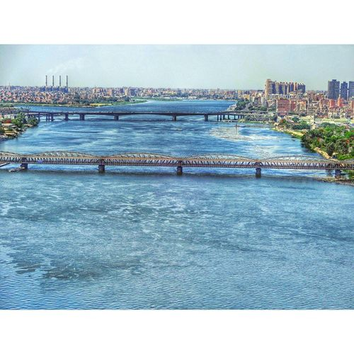 Imbaba Bridge River Nile Cairo Egypt Rcnocrop Sony Qx10 Phonography