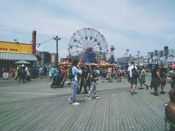 beach walk Beautiful Summer Afterlight New York Party Love Coney Island Beach