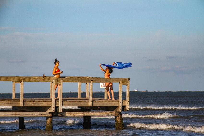 Molo Wave Beach Black Sea Girls Sea Take Picture Water