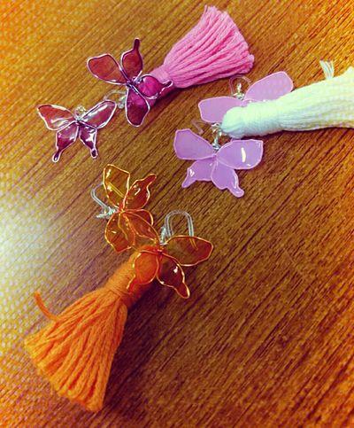 蝶々ピアス(量産) 手作りアクセサリー ハンドメイド Handmade Handmade Accessories
