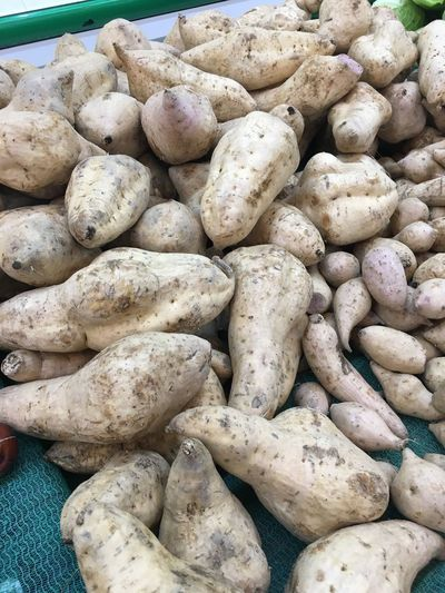 Close-up of potatoes in market