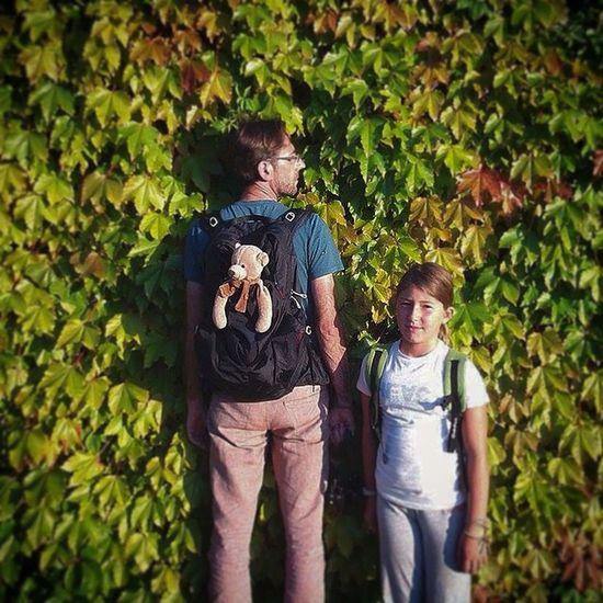 Viola, me and Pepe . Travel Portrait Selfie Teddybear Kids