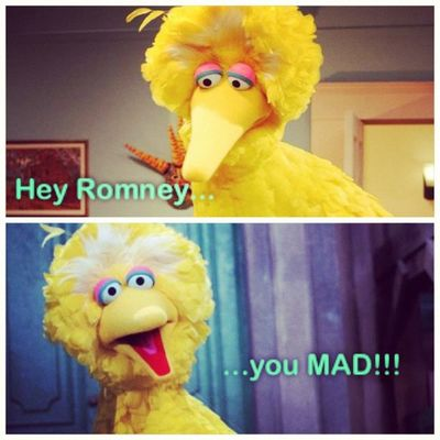 I crack myself up with Instacollage ! Bigbird stylin' on Romney