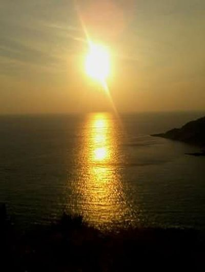 Shining Sun Light Sunset Cape  Seaview Holiday Vacation