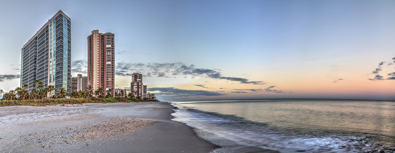 Sunrise over North Gulf Shore Beach along the coastline of Naples, Florida Sky Water Sea Beach Nature No People Land Naples Beach Sunrise Dawn Daybreak North Gulf Shore North Gulf Shore Beach Landscape Panoramic Panorama Coast Coastline Coastal Life Waterfront Florida Beach Early Morning White Sand Gulf Shores Gulf Coast
