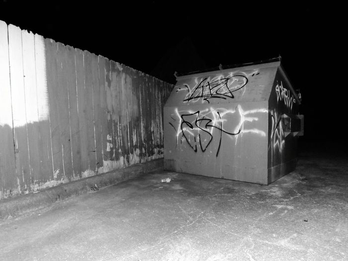 Blackandwhite Blackandwhite Photography Black&white Bnwphotography Bnwphoto Bnw_collection Bnwphotograph Fence Dumpster Tagging Tag Tagitup Tag It Up Ghetto Dirty Graffiti Built Structure Street Art Vandalism Bad Condition