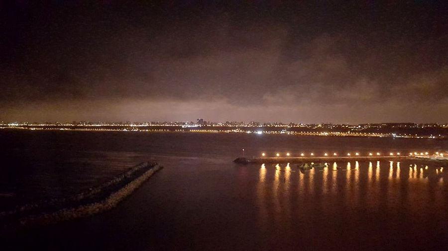 Costa Verde Lima Perú Oceano City Illuminated Nature Nautical Vessel Night Outdoors Reflection Sea Water