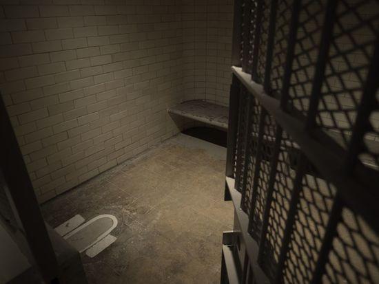 Concrete Dark No People Prison Toilet