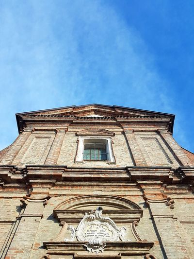 Architecture Low Angle View Built Structure Building Exterior Travel Destinations History No People Outdoors Sky Day Church Piedmont Italy Langhe Travel Destination Italy