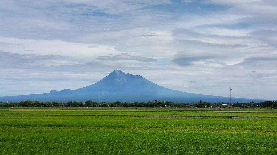 Mountain Merapi Merapi Volcano Yogyakarta Nature Mountain Range Vulcano Vulcano Volcanic Landscape Sky Blue Fresh EyeEmNewHere