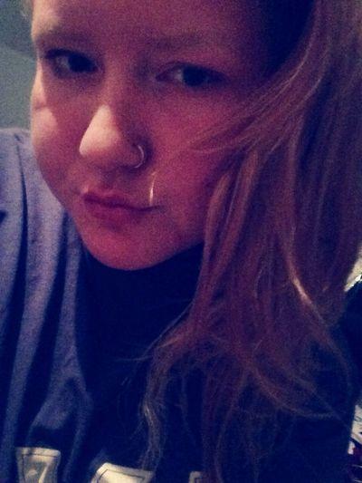 School tomorrow ?? Nose Piercing School Pretty Girl Bored Girl