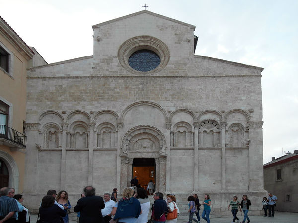 Facade of the Cathedral of Termoli Cathedral Church Termoli  Adult Architecture Building Exterior Built Structure Façade History Italy Large Group Of People Leisure Activity Men Molise Outdoors People Place Of Worship Real People Religion Spirituality Travel Destination Travel Destinations Women