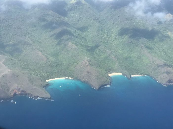 Hiva Oa, Marquesas Island / Marquises. Water Scenics - Nature Beauty In Nature Sea Nature Tranquil Scene Tranquility Aerial View Travel Blue Turquoise Colored Idyllic Land No People Beach Environment Non-urban Scene