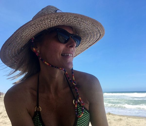 Caribbean Outdoors Beach Hat Sea Vacations Only Women Sun Hat Outdoors One Woman Only One Person Summer Day Adult Adults Only Water Young Adult Sky Women People Young Women Nature