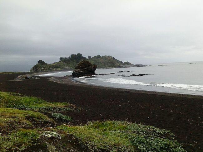 Chile♥ Paisaje Blacksand Desembocadura Rio Biobio Pacific Ocean Beach