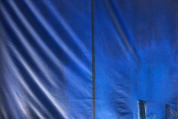 Blue Building Exterior Built Structure Canopy Shade Close-up Corrugated Day Full Frame Light And Shadow Low Angle View No People Outdoors Outdoors Photograpghy  Pattern Sky Sunlight Textile