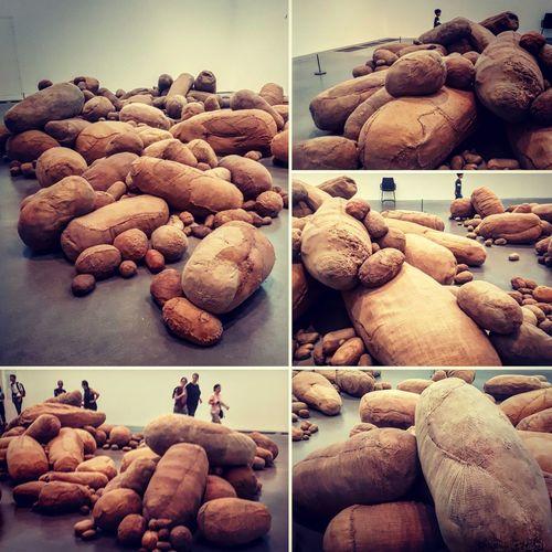 Tate Modern installation art Hessian Sack sculpture Art Sculpture Installation Art Hessian Sack Nut - Food Variation Collage Close-up