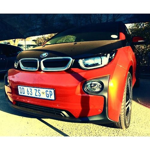 Had the privilege to have a go in the impressive i3 electric car today at BMW Head Office. 1 of only 10 in RSA. Bmwi