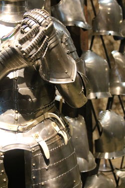 Armor Armory Battle Armor Close-up Collection Medieval Metal Selective Focus