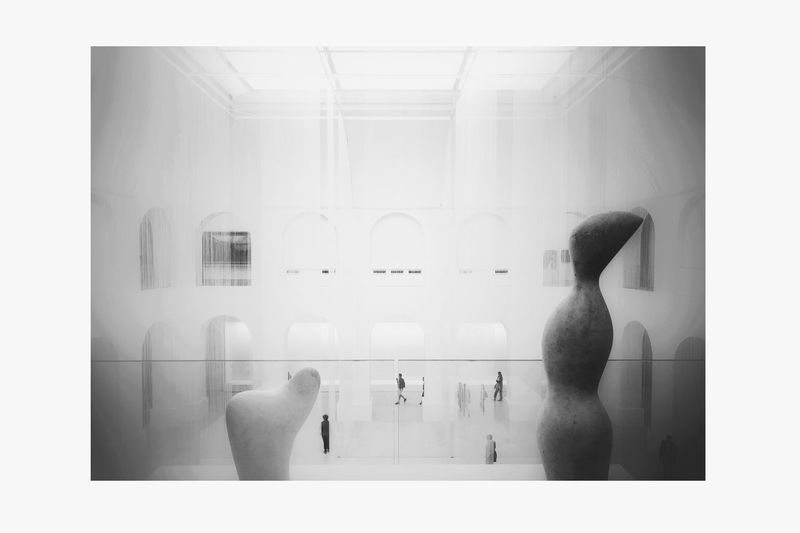 Museum Bnw White Color Uban Life Abstract Minimal Modern Art Black And White Friday