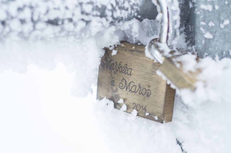 Snow Covered Love Lock