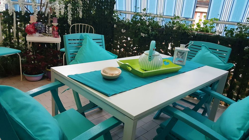 My Balcony My Balcony Garden Balcony Turquoise Turquoise Colored Fresh Colors Summertime Summer Colors Relaxing Relaxing Time