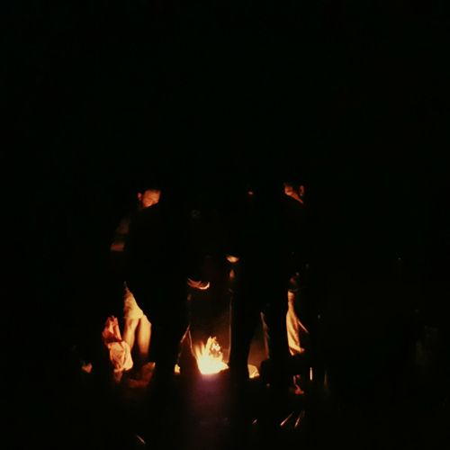People Together Camp Fire Flinders Ranges Field Work