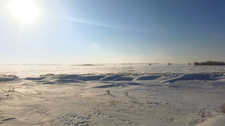 Kazakhstan Steppe Winter