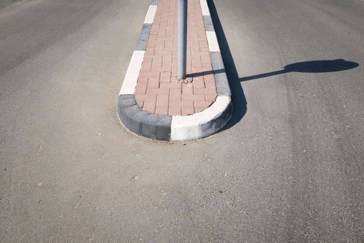 High angle view of road during sunny day