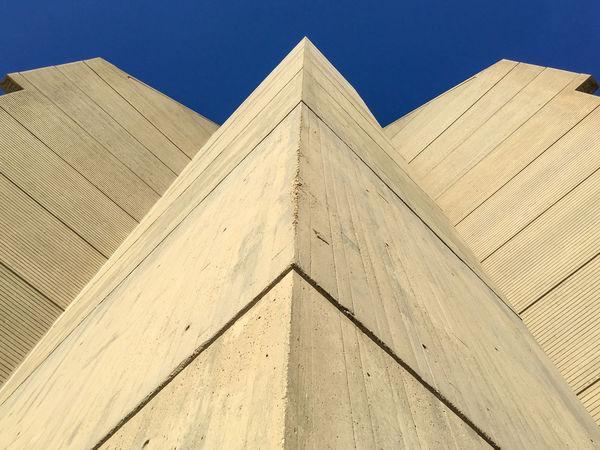 Architectural Feature Architecture Brutalism Building Exterior Built Structure Clear Sky DC Geometry Marcel Breuer Washington, D. C.