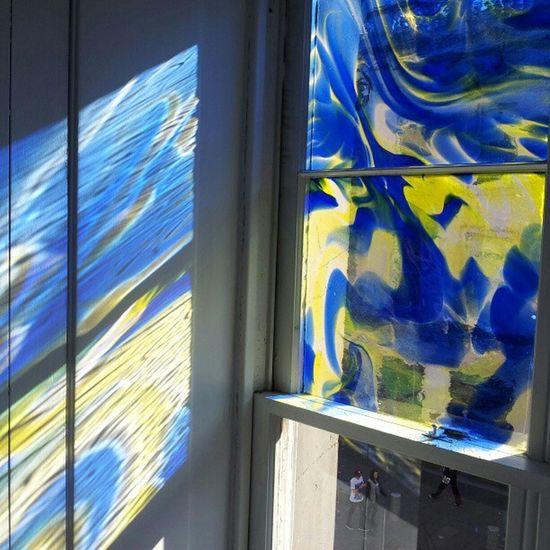 'Window Reflection' GalleryOfModernArt Glasgow  Scotland Reflection StainedGlass Windows ModernArt Glass Photography Instagram NoFilters
